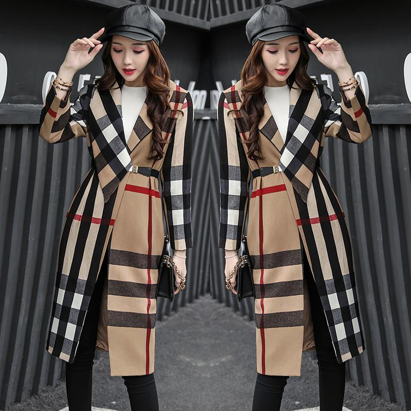 2018 Spring Fashion Long Sleeve trench coat woman Windbreaker Joker Comfortable casaco feminino