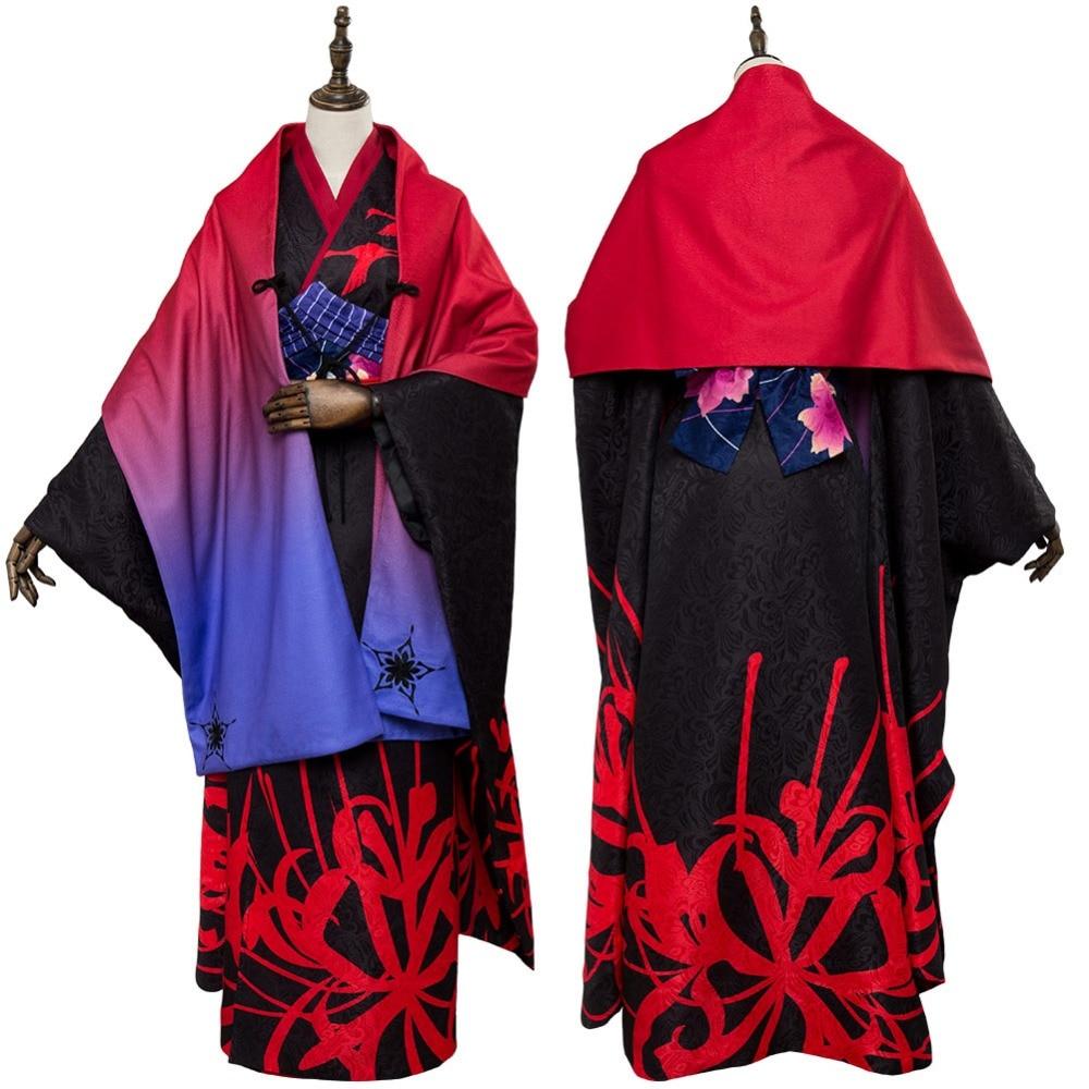 FGO Fate Grand Order Cosplay the Garden of Sinners Kara no Kyokai Asagami Fujino Outfit Kimono Cosplay Costume Halloween Costume