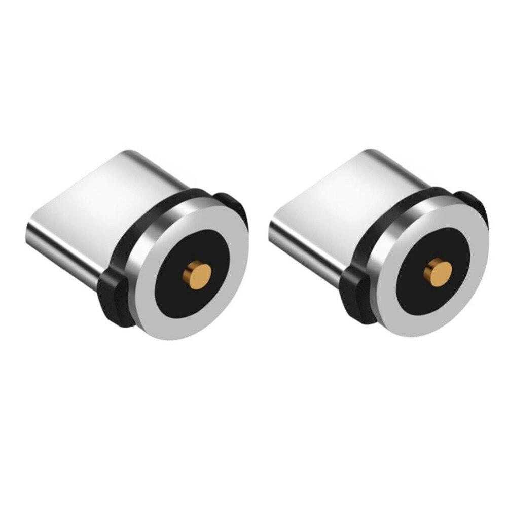 Dapper 2 Stks/set Type-c (magnetische) Adapter Hoofd Kleine Mobiel Dust Plug Opladen Connector Tips Voor Telefoon Power Kabel Nieuwe