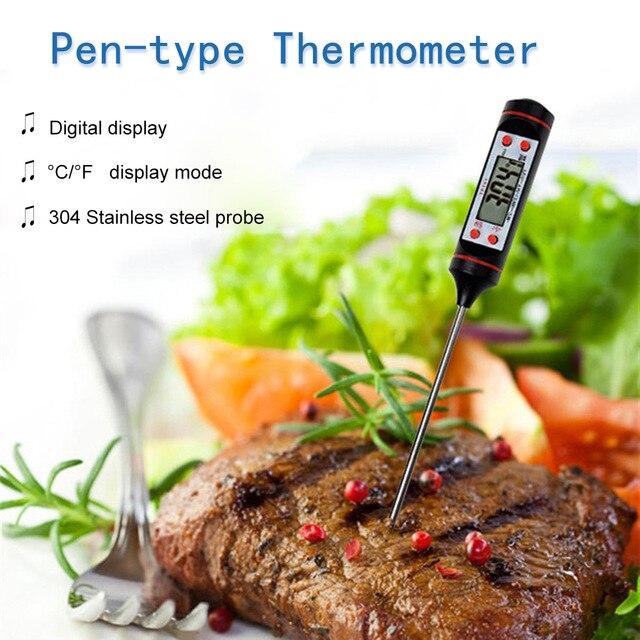 Цифровой термометр для мяса, кухонный измеритель температуры для барбекю, воды, молока, масла, жидкости в духовке