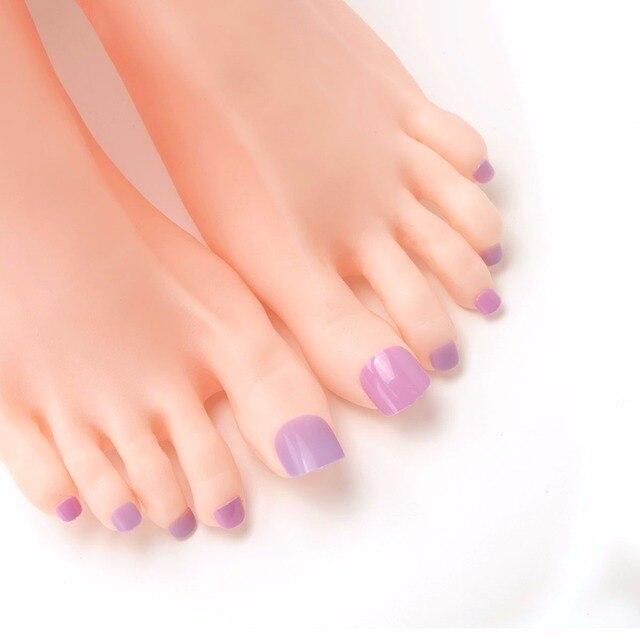 48pcs Taro Purple Candy False Fake Nails Acrylic Toes Nails Art