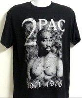 Yaz Elbise 2PAC TUPAC 1971-1996 Hip Hop Rap Güzel Swag Erkekler T-Shirt 100% Kısa Kollu Pamuk Baskılı Özel T gömlek