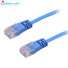 1.1mm thickness New 100% Network Cable Ethernet Cable Cat6 RJ45 Thin High Speed Flat UTP Twisted Pair Internet Lan 3M water resistant utp twisted pair video balun transceivers w extension cable black pair