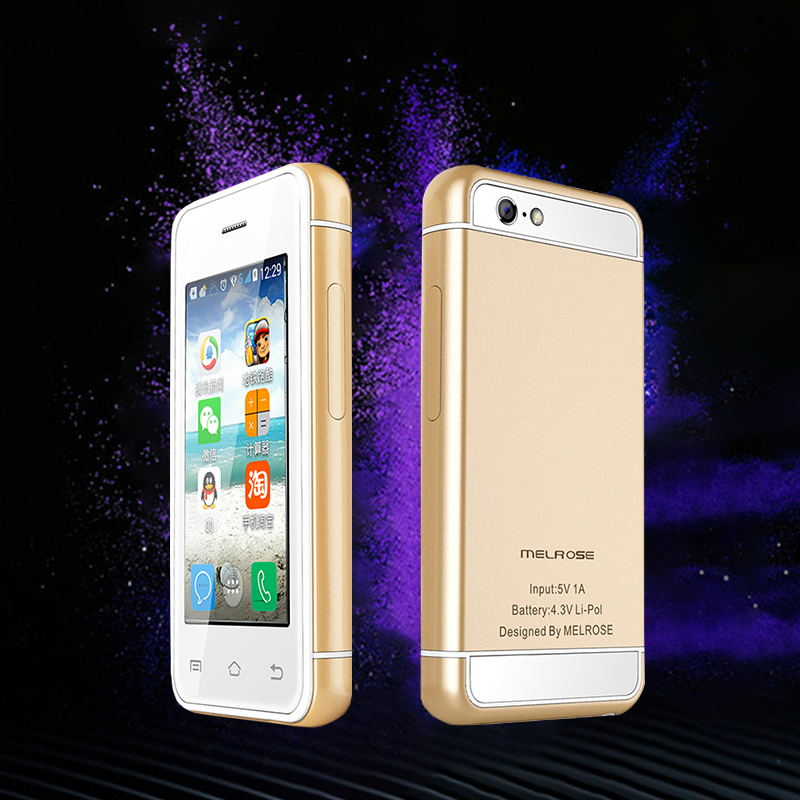 Ultra Slim Mini Student Smart Phone Play Store Android 5.1 MTK6580 Quad Core 512+8G 16G 3G WCDMA Smart Mobile Phone P017