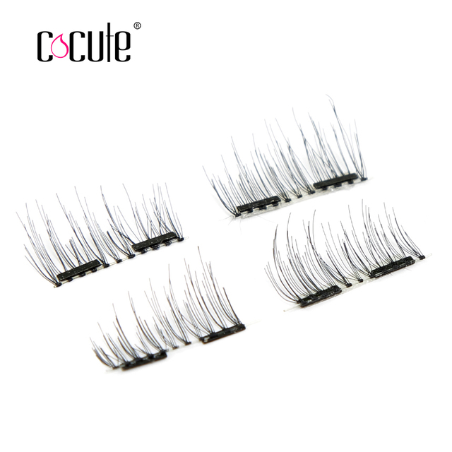 4pcs/pairs 3D Magnetic Eyelash