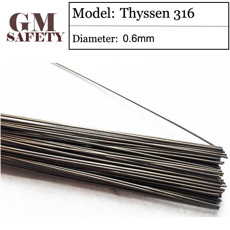 GM Thyssen 316 of 0.6mm Stainless Steel Laser Welding Wires for Solder Welders 200pcs in 1 Tube Made in Germany A095 laser welding of duplex stainless steels
