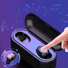 TWS Wireless headphones Bluetooth Touch Earphones Stereo Bluetooth Headset Earbuds with charging box 2000 mAh Power bank