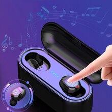 Tws fones de ouvido sem fio bluetooth toque fones estéreo bluetooth fone com caixa carregamento 2000 mah banco potência