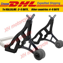 Universal Racing Motorcycle Sport Rear Combo Wheel Lift Stands Paddock Stands BK