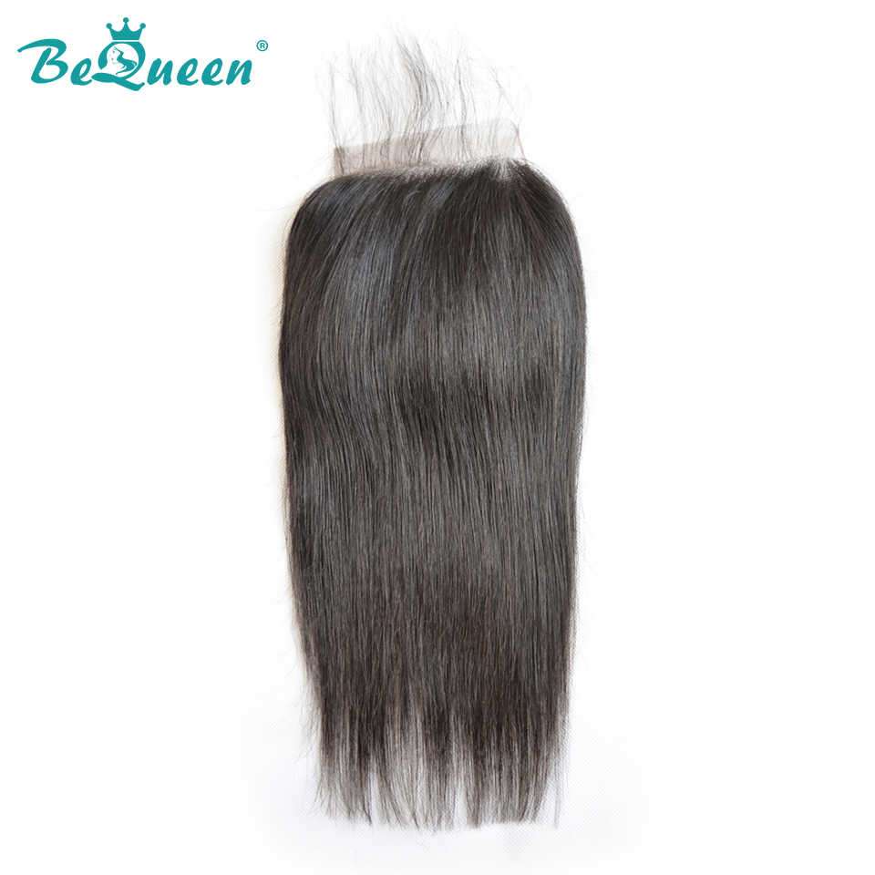 BeQueen Brazilian Straight Wave 5*5 Swiss Lace Closure,100% Virgin Hair Free Shipping