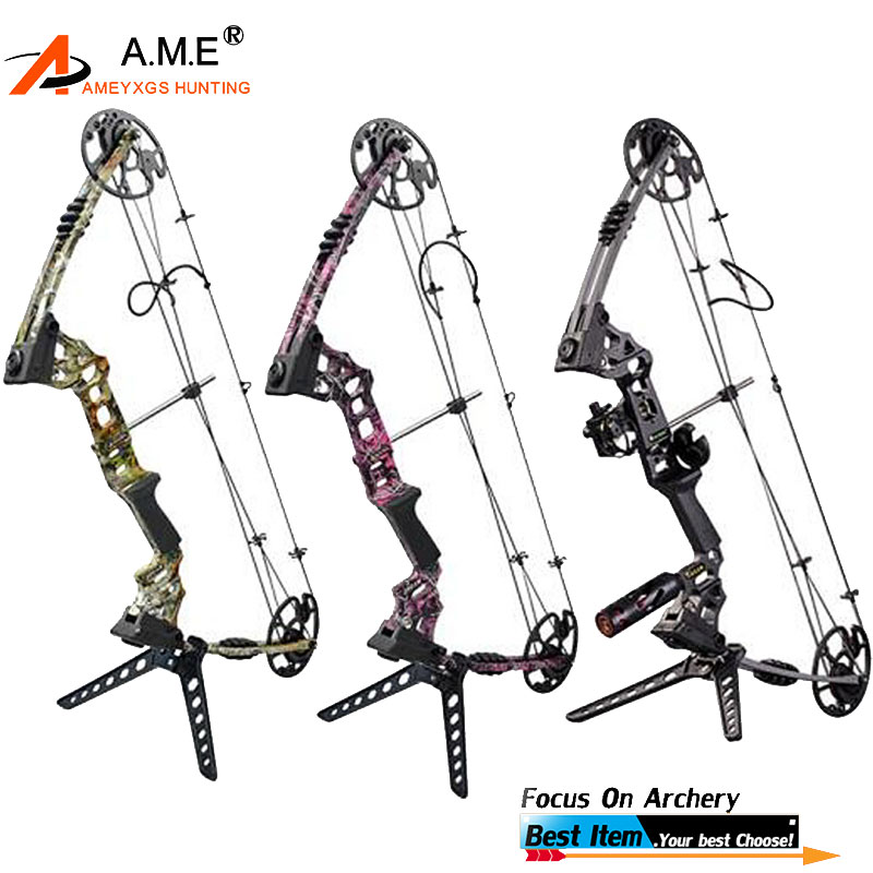 Brilliant Compound Bow Archery Take Down Right Hand Archery Hunting Bow New Archery Compound Bow 30-70lbs Set Kit Stabilizer Arrow Rest New Varieties Are Introduced One After Another
