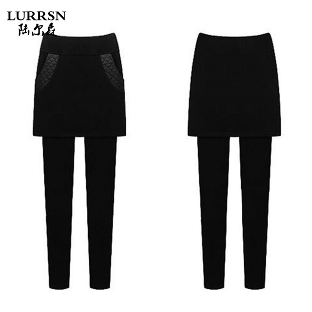 LURRSN BRAND Big Size M to 6XL Autumn Winter New Casual Slim Skinny Thick With Velvet Fleece Elastic Stretch High Waist Pants