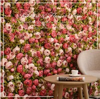 1,2 м * 1,2 м наивысшего качества искусственный цветок Свадебные украшения фоне стены красный Шелковый розовый пион Гортензия моделирования ц