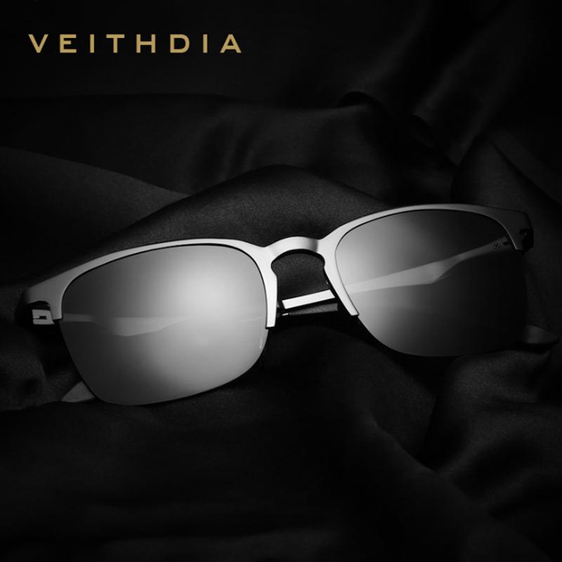 VEITHDIA Unisex Retro Aluminio Magnesio Semi sin montura Gafas de sol - Accesorios para la ropa - foto 4