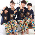 Women Girl Kid Bear Spring Fall Pajamas Mother Father Child Pajamas Family Matching Clothing Baby Mom Men Lover Home Clothes J21
