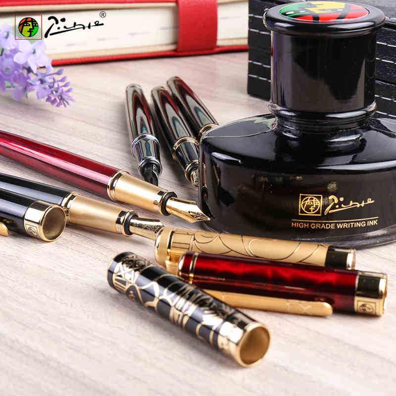Free Shipping Picasso 902 Luxury 0.5mm Nib Ink Business iridium pen/Metal/Brand/Gift/Calligraphy Fountain Pen italic nib art fountain pen arabic calligraphy black pen line width 1 1mm to 3 0mm