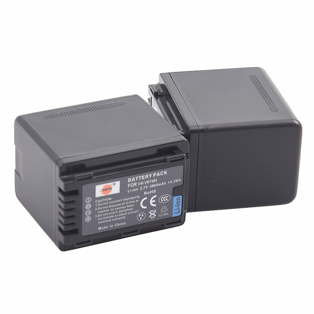 DSTE 2x  vw-vbt380 VW-VBT380 Li-ion Battery pack for PANASONIC HC-W580GK HC-V380GK HC-V180GK HC-W580MGK HC-VX980GK camera