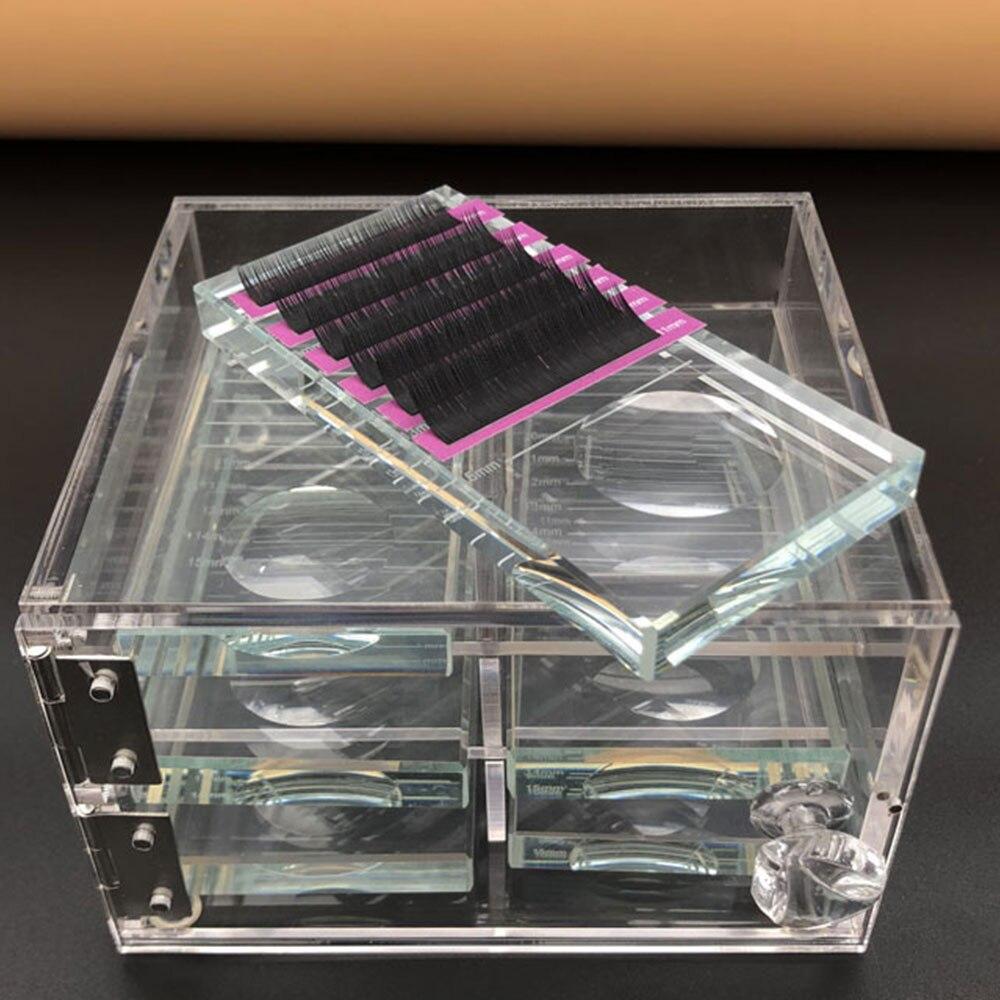 False Eyelash Extension Display Screen Storage Box Acrylic Case Eyelash Cosmetic Makeup Storage Box Eyelashes Holder