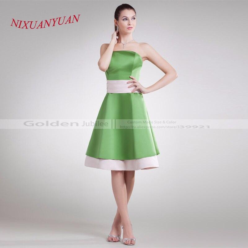 2017 New Design Hot Sale A Line Party Gown Strapless Satin Mini   Cocktail     Dress   2016 vestidos de   cocktail   2016