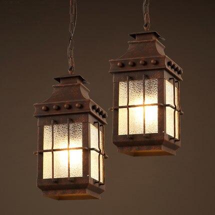 ᐂVintage Lamp Wrought Iron Industrial Style Pendant Lighting Loft