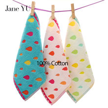 JaneYU 100% Cotton 3 Pieces/Lot 25x25cm Handkerchief Mocketer Mocket Baby Face Towels