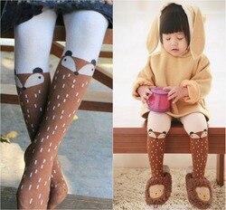 Bebê crianças meninas meias de raposa calças crianças dos desenhos animados meias de algodão raposa macio do bebê menina collants para modis leotardos bebe
