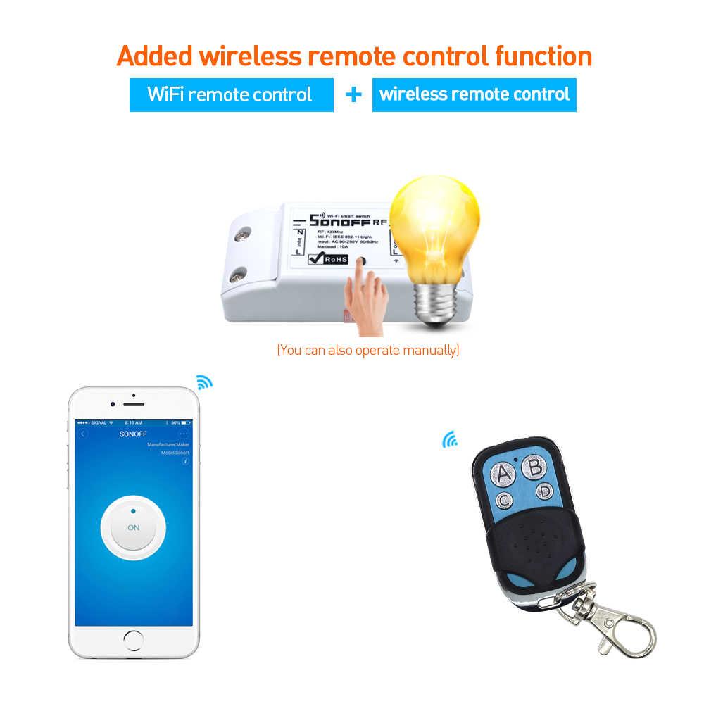 Sonoff RF 4CH Pro Slampher T1 UK C1/C2/C3 สวิตช์ Wifi ไร้สาย 433 เมกะเฮิร์ตซ์การควบคุมระยะไกลสำหรับ smart Home Automation รีเลย์โมดูล