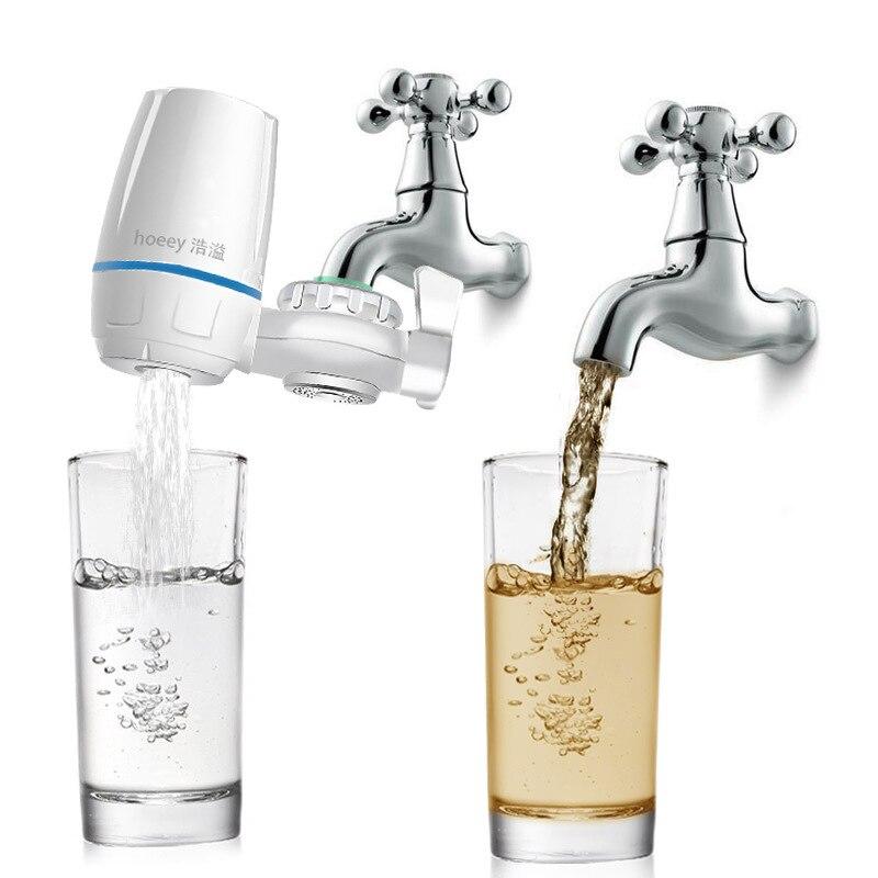 Purificateur d'eau du robinet filtre à eau robinet de cuisine lavable en céramique percolateur Mini Filtro rouille élimination des bactéries filtre de remplacement