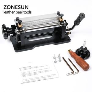 Image 5 - ZONESUN 革スカイビング機ストラップスプリッタハンドル剥離機械野菜なめしの革 DIY シャベル皮膚機