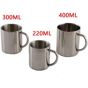1pcs Useful Stainless Steel 220ml 300ml 400ml Portable Mug Cup Double Wall Travel Tumbler Coffee Mug Tea Cup body jewelry