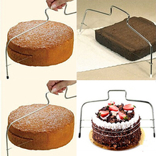 New Arrival Adjustable Wire Bread Cake Dough Pizza Slicer Leveler Stainless Steel Slices Store 243(China)