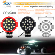 1pcs 10-30V DC 51W 17pcs* Crees led Flood beam or Spot beam led work light lamp for SUV, road-side rescue vehicle, lorry, truck