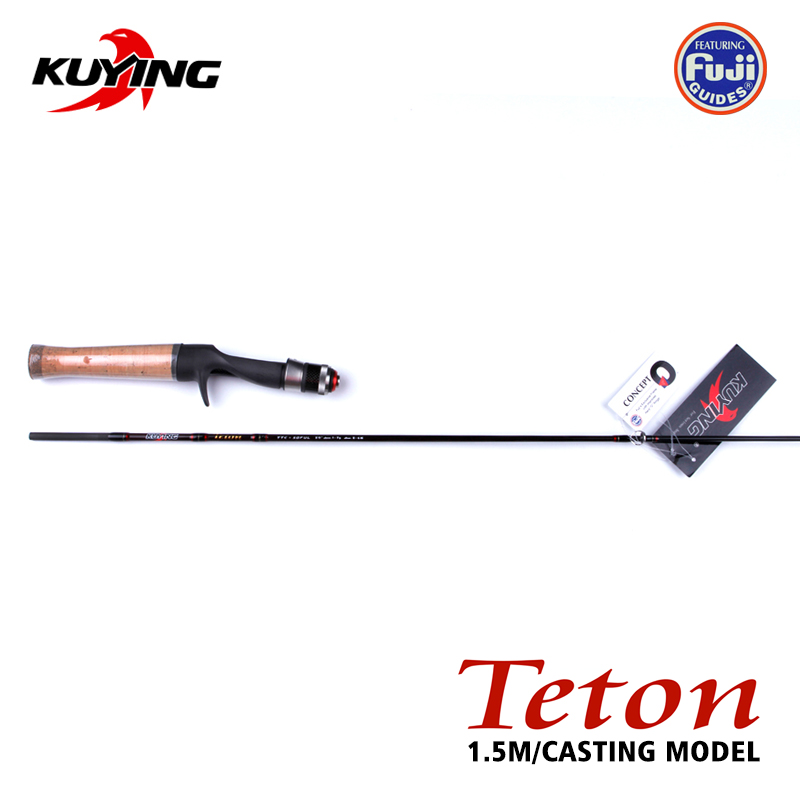 TETON Teton 1.5m 5'0 Carbon Fishing Lure Rod Stream Casting Stick Cane Pole UL Ultralight Soft 1.5 Sections 1-7g Lure Fast medical science accessories human skin model block enlarged plastic anatomical anatomy medical teaching tool dropshipping