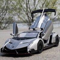 MZ 1:29 Lamborghin ядовитую несколько цвет литой металлический сплав модель автомобиля открыть дверь музыкальной мигающий Вытяните назад детские ...