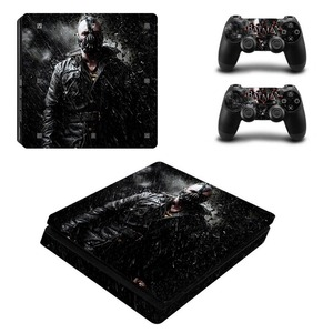 Image 2 - Black Batman Skin Sticker Cover Protector Vinyl Sticker For PS4 Slim Console Kinect and 2 Controller Skin