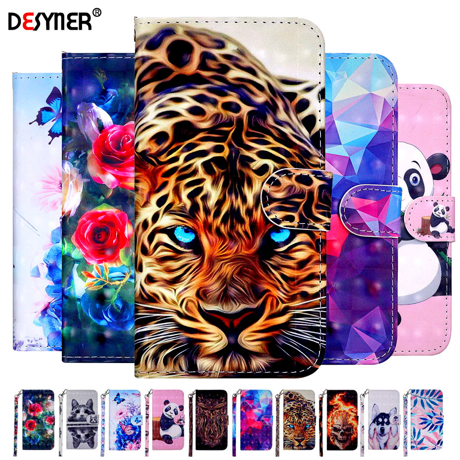 For Huawei <font><b>P</b></font> <font><b>Smart</b></font> Case <font><b>5.65</b></font> Luxury PU Leather Phone Case For Huawei <font><b>P</b></font> <font><b>Smart</b></font> FIG-L21 FIG-LX1 FIG L21 LX1 PSmart Case Flip Cover image