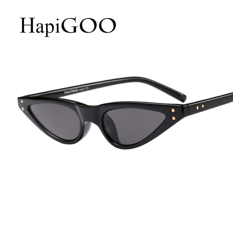 ac89da64ad HapiGOO Brand Designed Small Frame Cat Eye Sunglasses Women Leopard  Triangle Vintage Cheap Stylish Sun Glasses For Female UV400-in Sunglasses  from Apparel ...