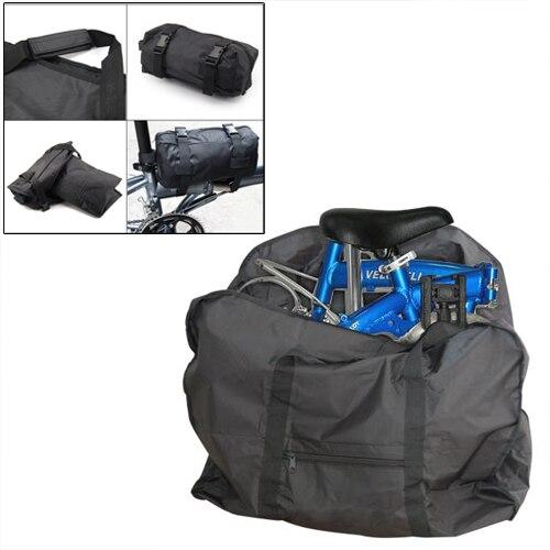 Paquet de 5 x (bon plan sac de transport pliant vélo sac de transport pour 12