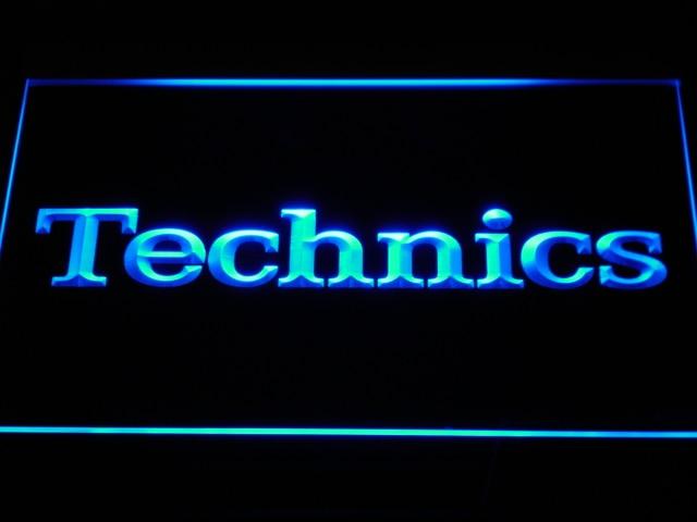 K149 Platines Technics DJ Musique NOUVELLE LED Néon Signe avec On/Off 20 + Couleurs 5 Tailles à choisir