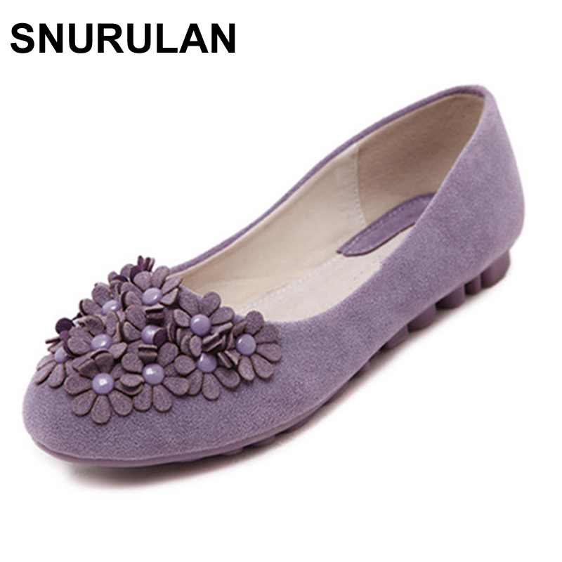 SNURULAN Fashion Office Round Toe Women Shoes Flat Shoes Spring Autumn Casual Flats Women Shoes cresfimix women cute spring summer slip on flat shoes with pearl female casual street flats lady fashion pointed toe shoes