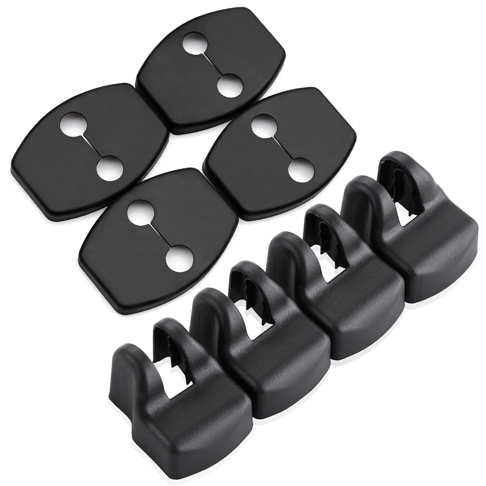 8pcs Door Lock Cover Stopper For Toyota RAV4 Highlander Kluger Land Cruiser Prado FJ Cruiser Sequoia Tundra Accessories-in Car Stickers from Automobiles & Motorcycles