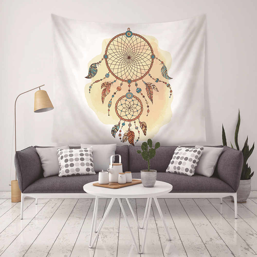 Hot New Indian Mandala Tapestry Hippie Home Dream Catcher Cotton Decorative Wall Hanging Bohemia Yoga Beach Mat For Living Room in Tapestry from Home Garden