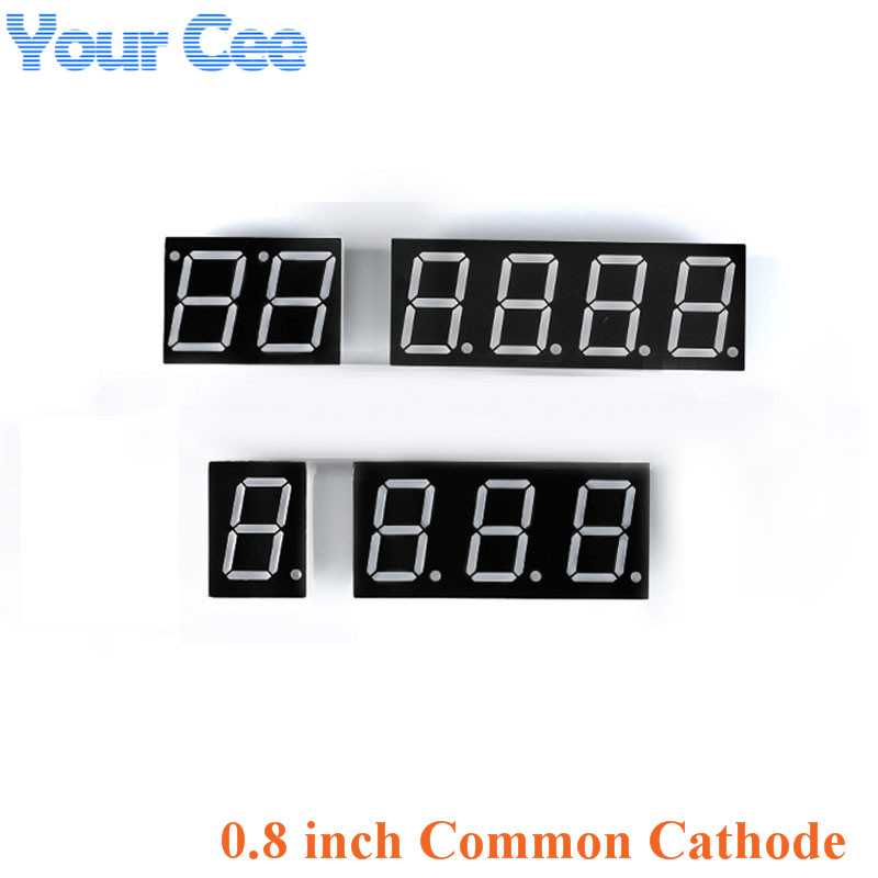 2pcs 0.8 Inch Display Clock Digital Tube Common Cathode 0.8