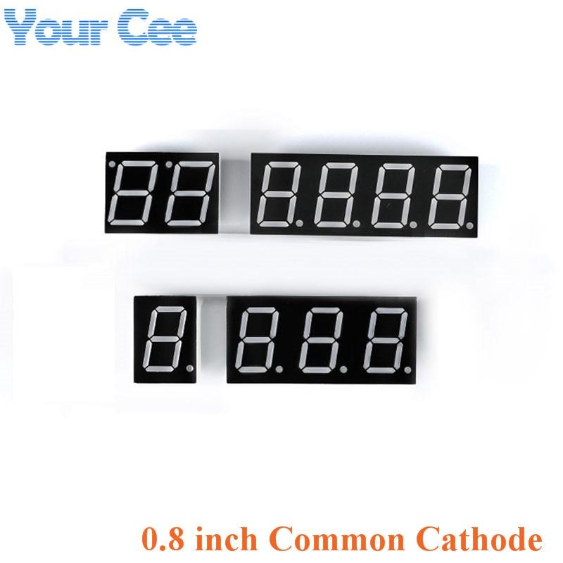 2pcs 0.8 Inch Display Clock Digital Tube Common Cathode 0.8