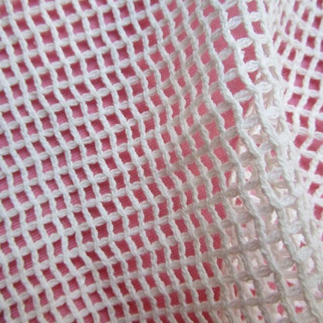 90cm 150cm 100 Cotton Grid Mesh Fabric Classic French