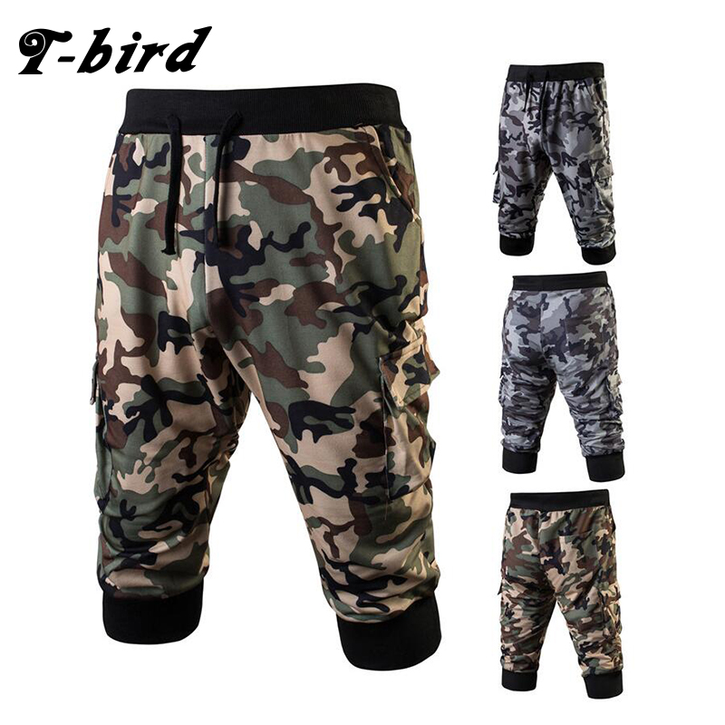 New Fashion 2017 Joggers Men Brand Camouflage 7 Points Sweatpants Male Compression Pants Casual Tactical Pants Mens Calabasas