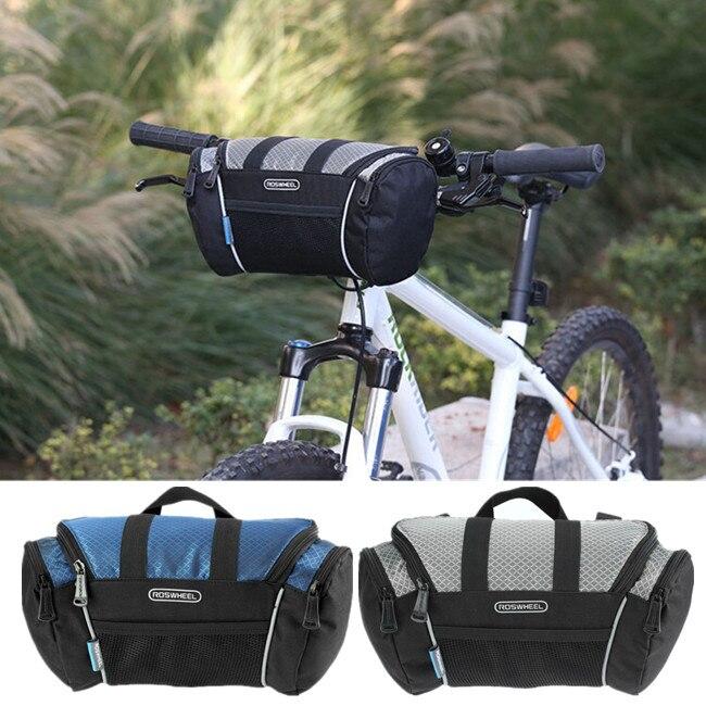 ROSWHEEL 5L Bike Handlebar Bag Bicycle Front Tube Pocket Shoulder Pack Outdoor Sports Cycling Mountain Bag