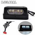 2016 New 12 V 0.2 W Universal Black LED Motorcycle License Plate Light Emark Free Shipping