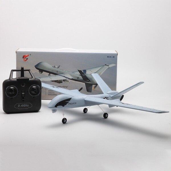 Z51 Predator 660mm Wingspan 2 4G 2CH Glider RC Airplane RTF Built-in DIY US  Kids Gifts