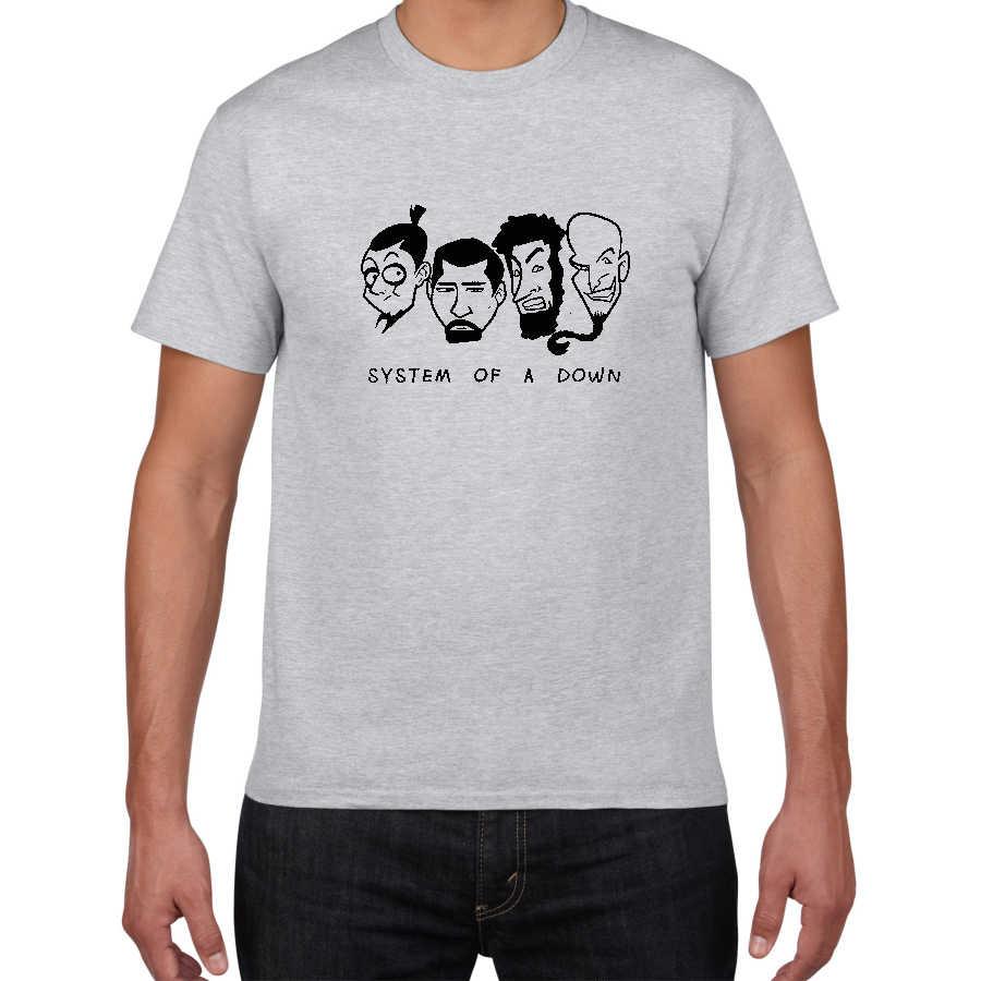 Harajuku nuevo System of a Down Punk camiseta hombres nueva 100% algodón hip-Hop camiseta hombres de talla grande Streetwear Nu-Metal tops camisetas hombres